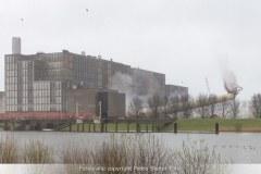 Opblazen van fabrieksschoorstenen IJsselcentrale